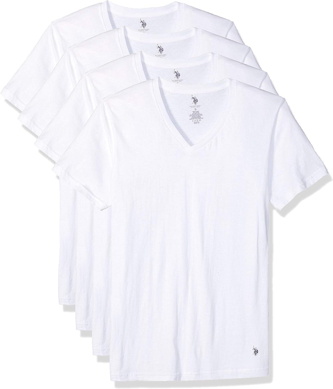 U.S. Polo Assn. Free Shipping New Men's Undershirt V-Neck 4 Pack Short – New arrival