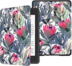 Fintie Slimshell Case for All-New Kindle Paperwhite (10th Generation, 2018 Release) - Premium Lightweight PU Leather Cover with Auto Sleep/Wake for Amazon Kindle Paperwhite E-Reader, Protea Paradise
