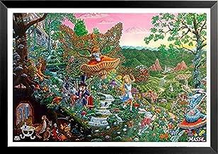 buyartforless IF SB M711 32x22 1.25 Black Framed (Alice in) Wonderland by Tom Masse 32X22 Fantasy Collage Art Print Poster