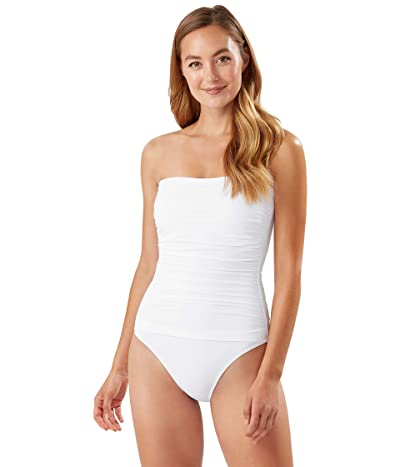Tommy Bahama Pearl Shirred Bandeau One-Piece (White) Women