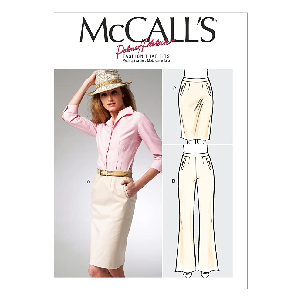 McCall Pattern Company M6757 Misses' Skirt and Pants Sewing Template, Size B5 (8-10-12-14-16)