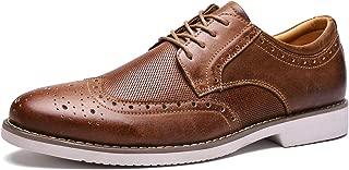Men's Dress Shoes Wingtip Genuine Leather Oxford Lace Up Brogue