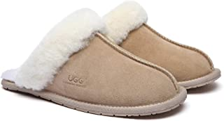 UGG Slippers Wool Rosa Australian Premium Soft Sheepskin Wool Winter Home Cozy Slipper Shoes Best Women Men