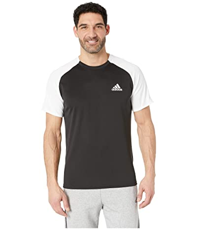 adidas Club Colorblock Tee (Black/White) Men