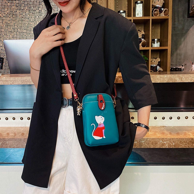 Small Crossbody Phone Bag for Women Cellphone Purse PU Cute Wallet Shoulder Bags
