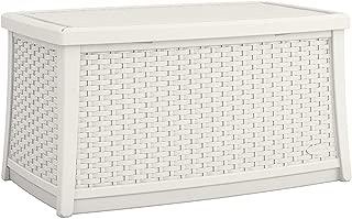 Suncast BMDB3010W EMW8863102 Elements Coffee Table with Storage-All-Weather, Lightweight, White