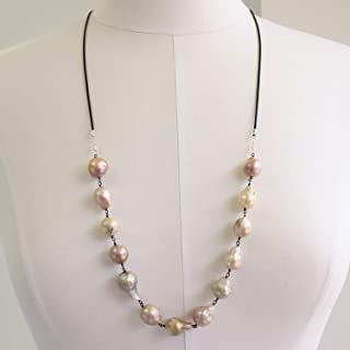 Baroque Pearl Necklace-Sterling Silver-30