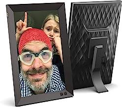 NIX 10.1 Zoll Digitaler Bilderrahmen. HD Fotos in gleicher Diashow, IPS-Display, Automatische Bilderdrehung, Energiesparen...