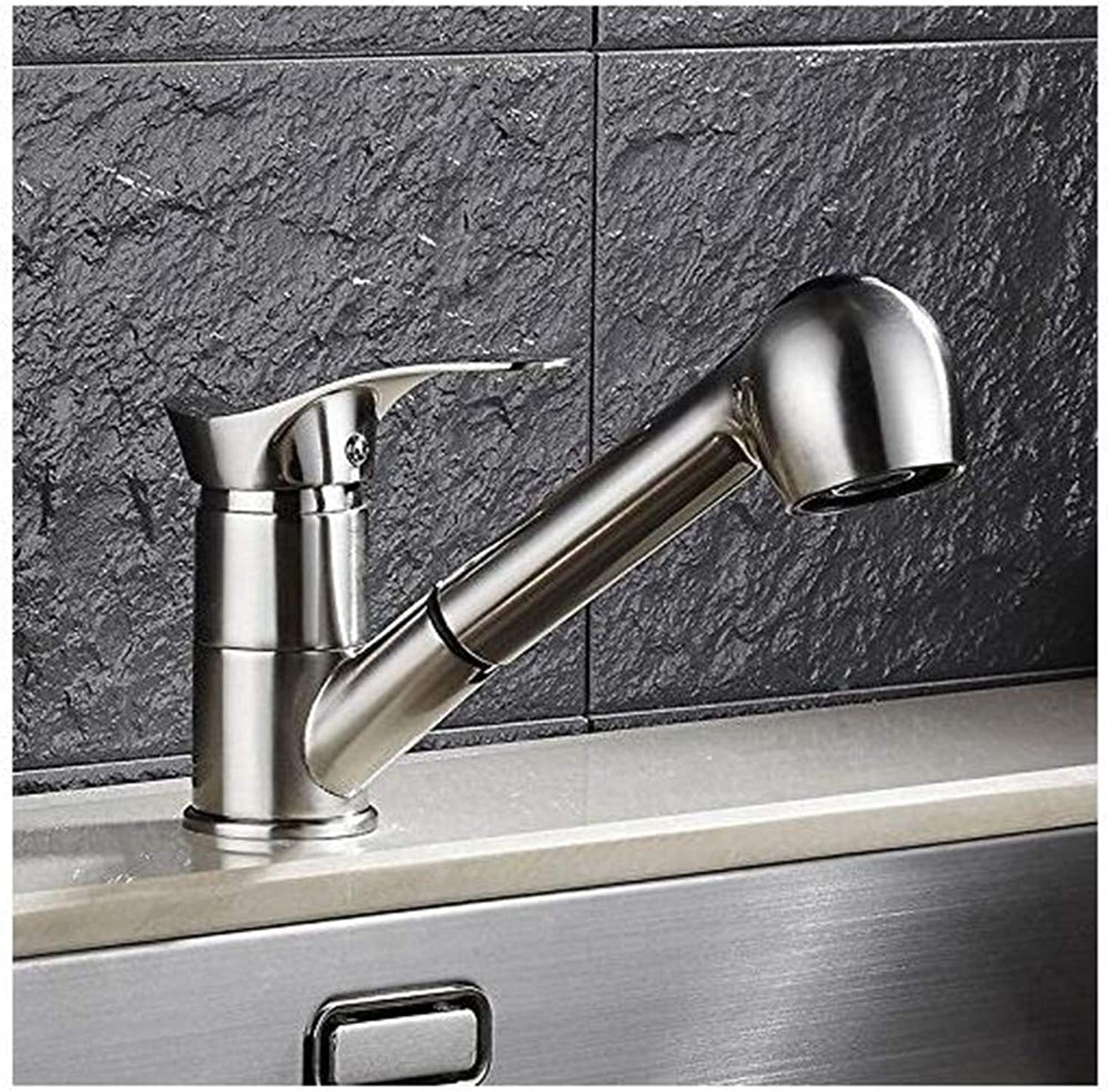 Chrome Brass Kitchen Faucet Brushed Nickel Kitchen Faucet Sink redational Drawing 360 Degree Swivel Pull Out Sink Faucet Solid Brass Water Tap
