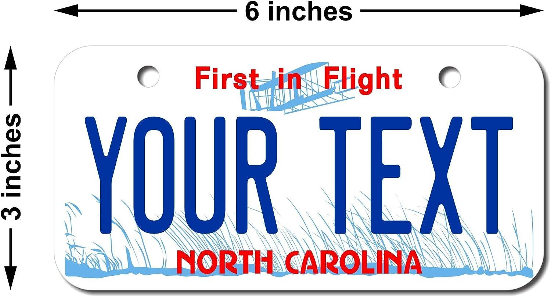 Teamlogo Personalized 3 X 6 Carolina High quality North Plat safety License Aluminum
