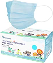 B BRENTANO Non-Medical Personal Protective Equipment Disposable Face Mask (Children, Blue)