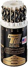 Triumph Twist Drill Co. 090496 SAD21HD Size Ranger 1/16-Inch-3/8-Inch by 64ths High Speed Steel Drill Set, Black and Bronz...
