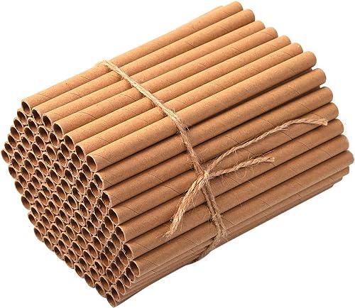Super Idee Lot de 200 tubes en carton de remplissage pour hôtel à insectes, maison à insectes, abeilles sauvages, hôt...