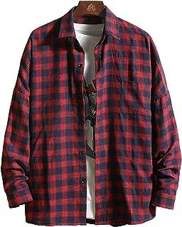 CXYYメンズ シャツ メンズ 長袖 カジュアル ギンガムチェック shirt ネルシャツ