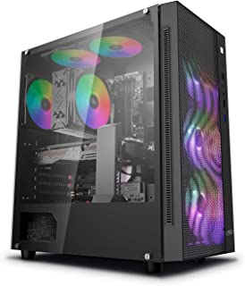 DeepCool Matrexx 55 Mesh Case ATX PC Gaming 0,6 mm SPCC con 4 Ventiladores 120 mm RGB Rainbow Addressable 5 V Add Front Pa...