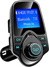 VicTsing Bluetooth FM Transmitter for Car, Wireless Radio Transmitter Adapter with Power..