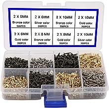 FandWay PA Lot de 750 mini vis /à bois auto-taraudeuses /à t/ête ronde pour r/éparation dordinateur portable M1,7 M2 M2,3 M2,6 M3