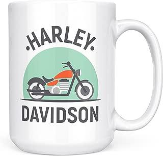 Harley Davidson Gifts for Women Men Kids Bikers - Harley Davidson Coffee Mug - Unique Anniversary Birthday Gifts - Ceramic 15oz