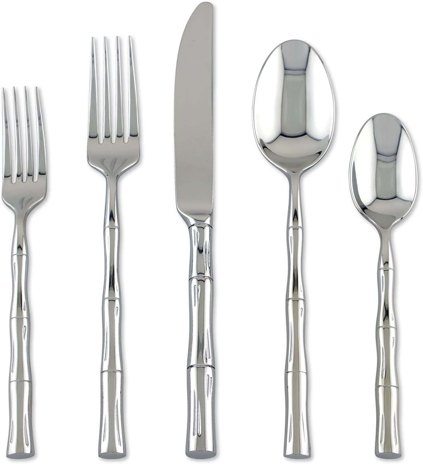 Supreme Stainless Steel 20-Piece Bamboo Flatware Set