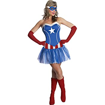 Rubies - Disfraz de Capitán América de Marvel para Mujer (Talla ...
