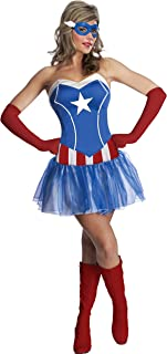 Women's Marvel Universe American Dream Costume Tutu Dress and Mask