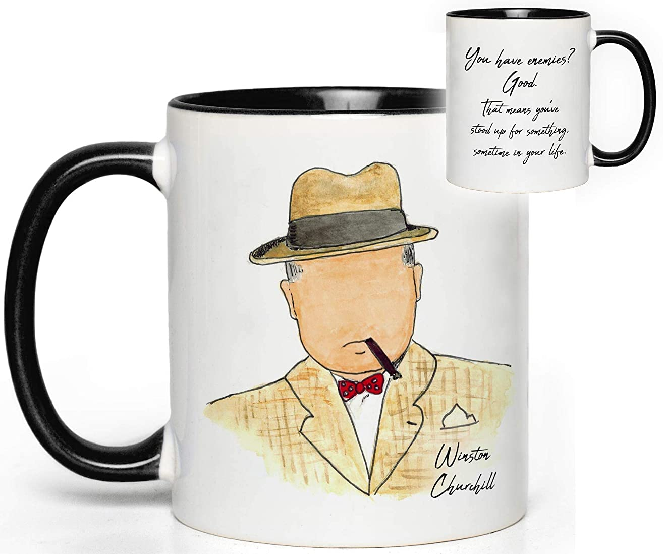 Winston Churchill Quote Mug Gift