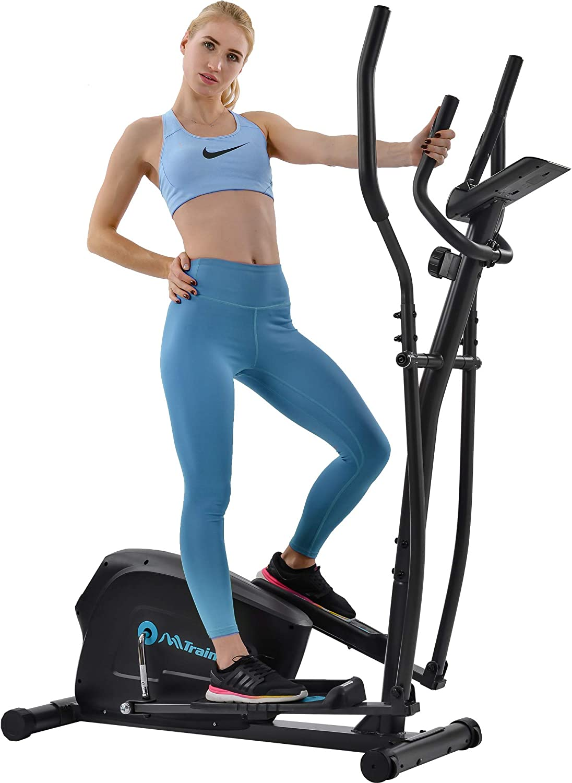 Merax Magnetic Elliptical Trainer Machine Upright Exercise Bike