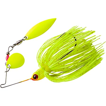Double Willow 3//8 oz BOOYAH Glow Blade White Chartreuse//Chartreuse//White Blades