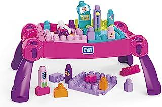 Mega Bloks FFG22 Buildand Learn Table, Pink