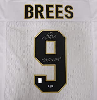 New Orleans Saints Drew Brees Autographed White Jersey