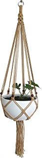 Macrame Plant Hanger Hanging Planter Hanging Net Basket Hemp Rope 52 Inch for 10 inch Pot, Pot and Plant Excluded (6LEGS)