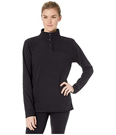 The North Face TKA Glacier Snap-Neck Pullover (TNF Black/TNF Black) Women