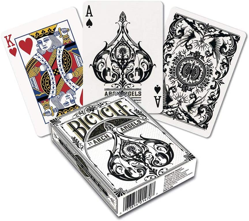 Exclusive cards play card design deck Luxury Playing Cards Angels /& Demons Art Playing Cards unique gifts magic poker decks