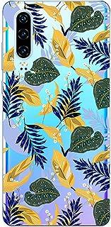 Suhctup Compatible con Huawei Honor 20 Pro Funda Flor de TPU Transparente Diseño de Flores Patrón Cárcasa Ultra Fina Suave...