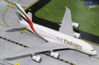 Gemini200 Emirates A380 A6-EOZ 1:200 Scale Diecast Model Airplane, White