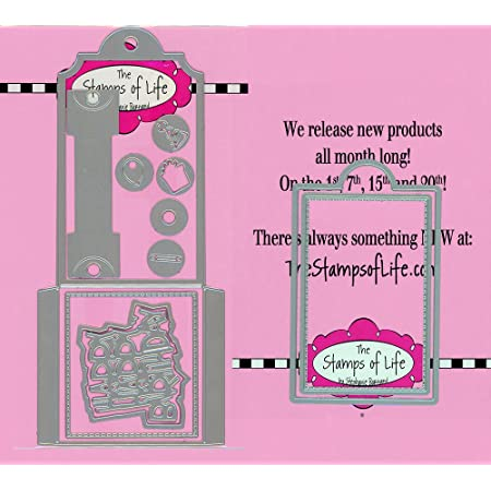Box-It Die for Card-Making and Scrapbooking Supplies by The Stamps of Life Create Square Cube
