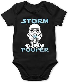 Shirtracer Storm Pooper Junge - Baby Body Kurzarm für Jungen und Mädchen