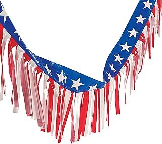 Patriotic American Flag Fringe (100 ft) Fourth of July Decorations