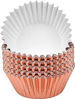 Jinlaili 100PCS Caissettes à Cupcakes en Papier Métallisé, Caissettes à Muffin Tasses, Cupcake Wrappers, Emballage de Cupc...