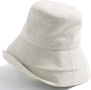 クイーンヘッド UVカット 帽子 綿ポリブリムUVハット 小顔 ハット レディース 大きいサイズ つば広 紫外線カット 女優帽