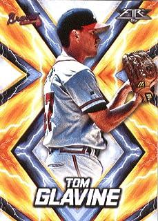 2017 Topps Fire #34 Tom Glavine Atlanta Braves Baseball Card