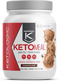 Ketologic KETO Meal Replacement Shake for Low Carb Weight Loss, 40 serves, Chocolate, 880 grams