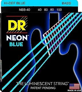 DR String NBB-40 Neon Blue Juego Cuerdas Bajo