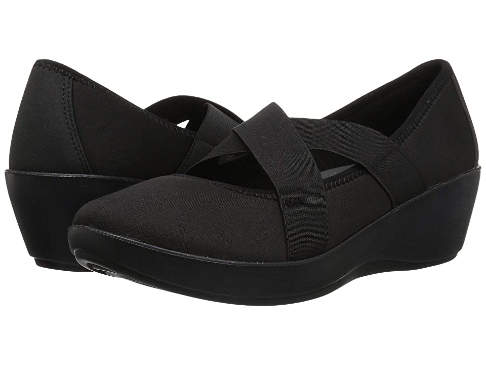 Crocs Busy Day Strappy Wedge (Black/Black) Women