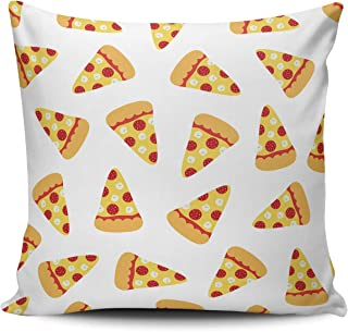 BERLK Square Pizza Slices 18x18 Inch Throw Pillow Covers Sofa Bed Home Decorative Pillowcase Cushion Case Double Sided Design Printed