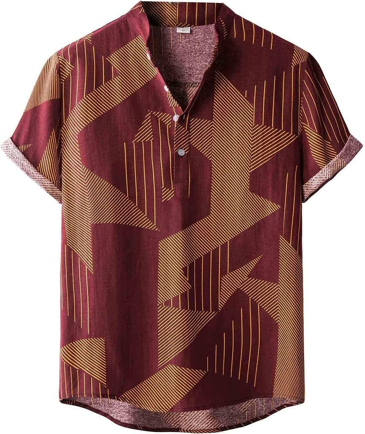 JJZXC Summer Fashion New Men Sleeve Limited Online limited product time for free shipping Shirts Vintage Ethnic Short