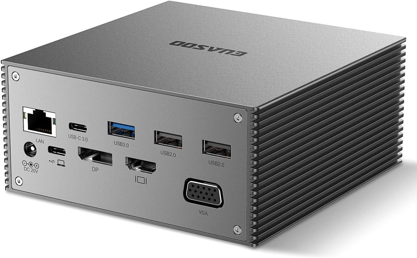 EUASOO Max 73% OFF USB-C Docking Station 16 in 1 Triple w USB C Dock trend rank Display