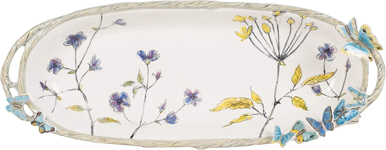 Fitz and Floyd Butterfly Many popular brands Fields Standard Holiday Tray Brand Cheap Sale Venue Multicol