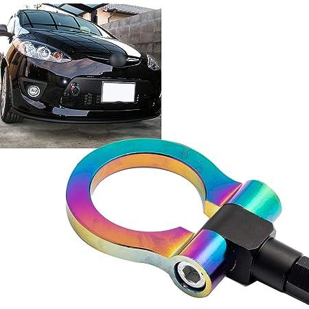 MG Pro-industry Front /& Rear Bumper Screw on Tow Hook Kit Heavy Duty for Mazda MX5 Miata 2006-up Black