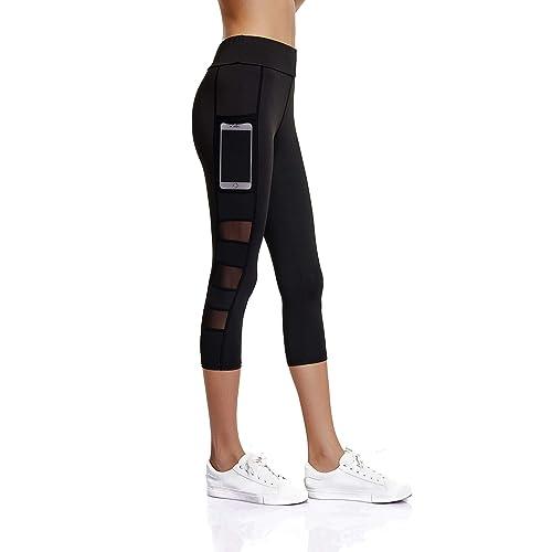 bc53c8cfe1 Joyshaper 3/4 Length Leggings for Women with Pockets Cropped Gym Capri  Trousers Yoga Pants